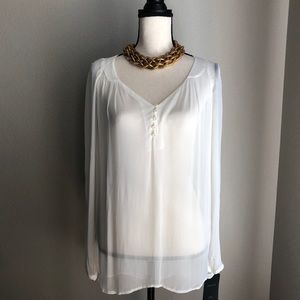 ZARA Sheer Long Sleeve Top in Medium - NWT